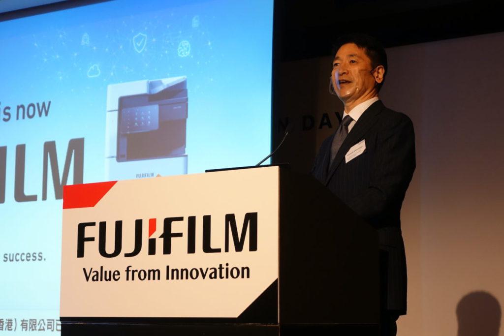松本泰幸表示,公司繼續以多功能影響機作接入點,配合雲端、物聯網和人工智能,協助企業轉型。