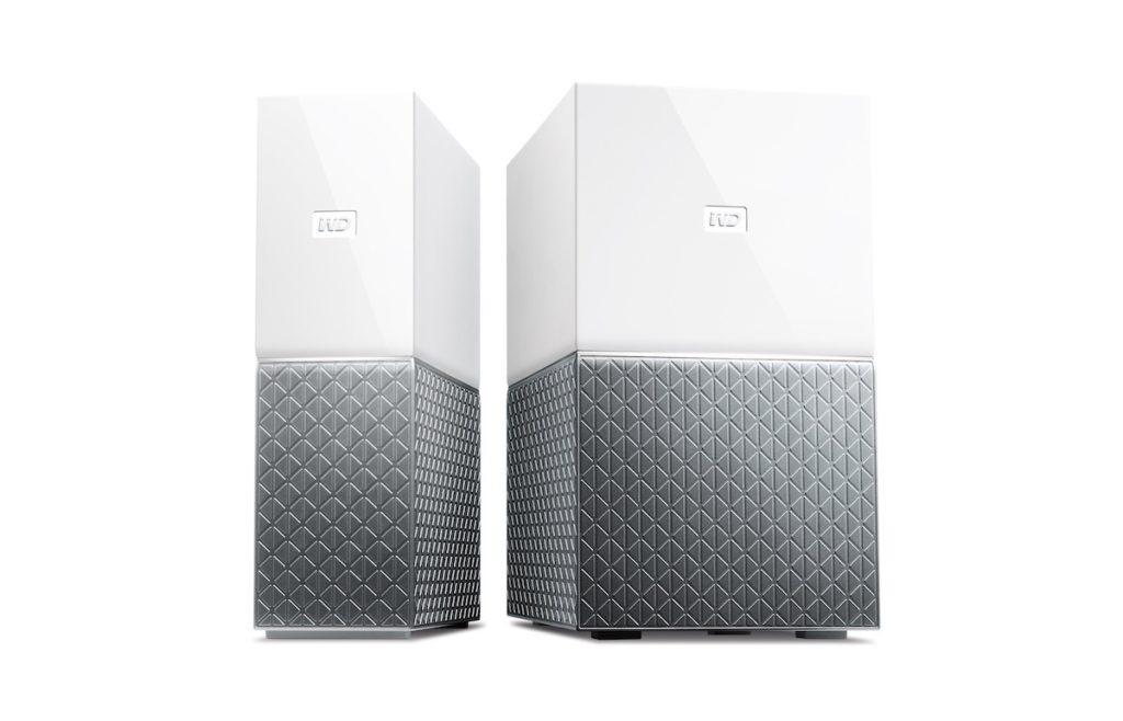 My Cloud Home 系列有兩個版本,分別是纖巧外型的 My Cloud Home (左),和容量倍增的 My Cloud Home Duo 。