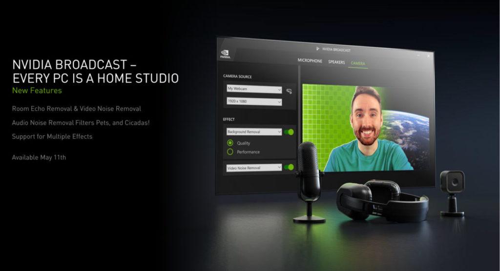 同日 NVIDIA 還會提供 NVIDIA BroadCast 功能