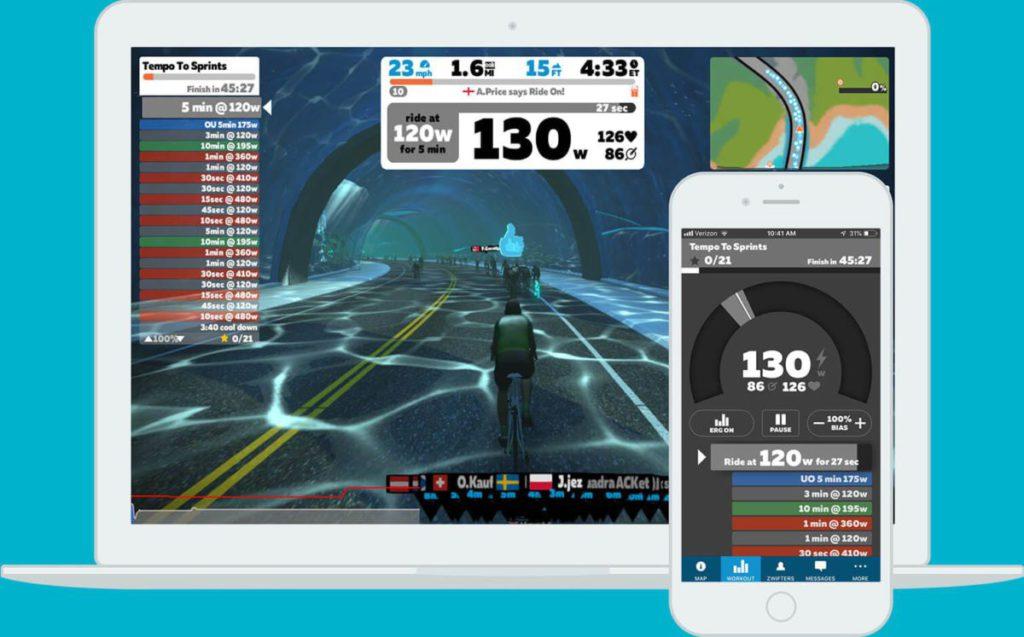 線上單車競技平台《Zwift》成為 OVS 單車賽事所使用的遊戲。Olympic Virtual Series