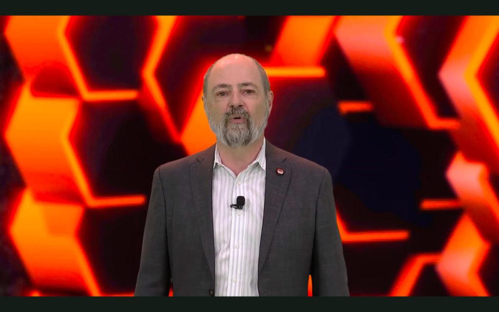 Charles Giancarlo 在今年 Pure//Accelerate 的主題演講,用預錄影片提出現代數據體驗。