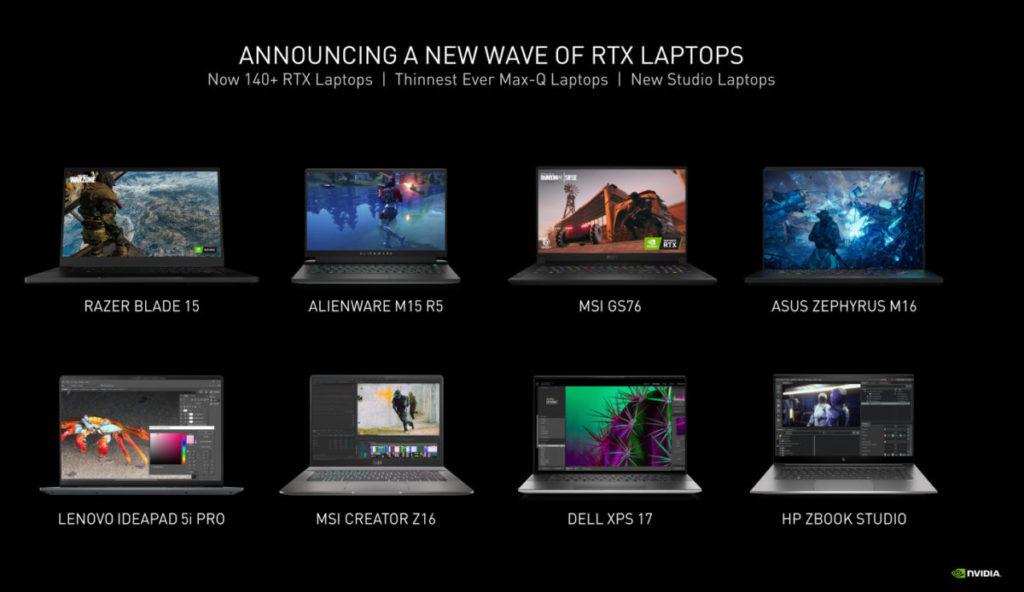NVIDIA 宣稱已有 140 多款 RTX 30 Laptop GPU 筆電上市