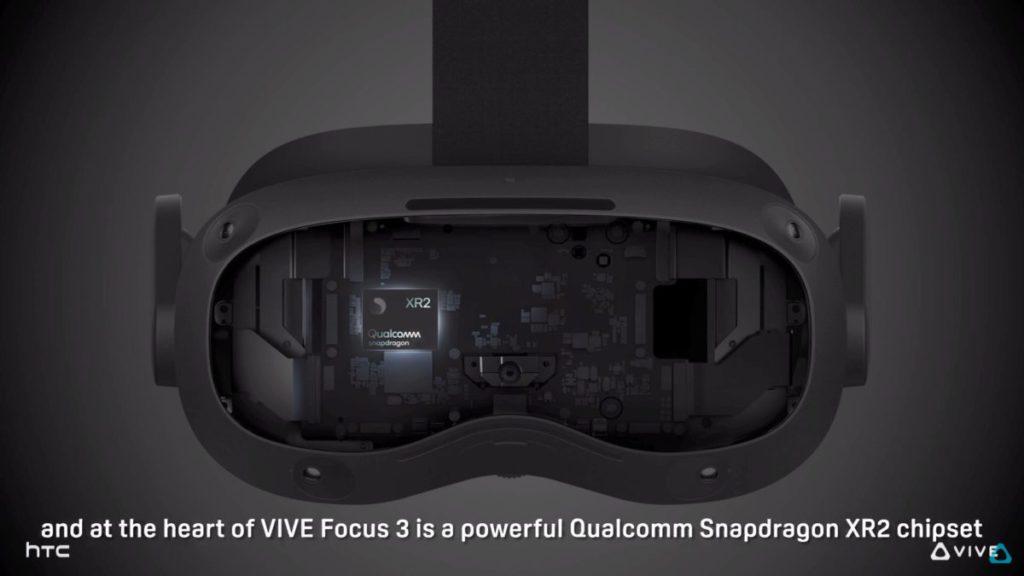 採用 Qualcomm Snapdragon XR2 晶片組。