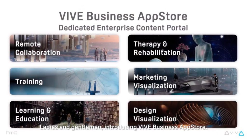 VIVE Business AppStore 應用商城讓中小企快速找到 VIVE ISV 伙伴提供的軟件。