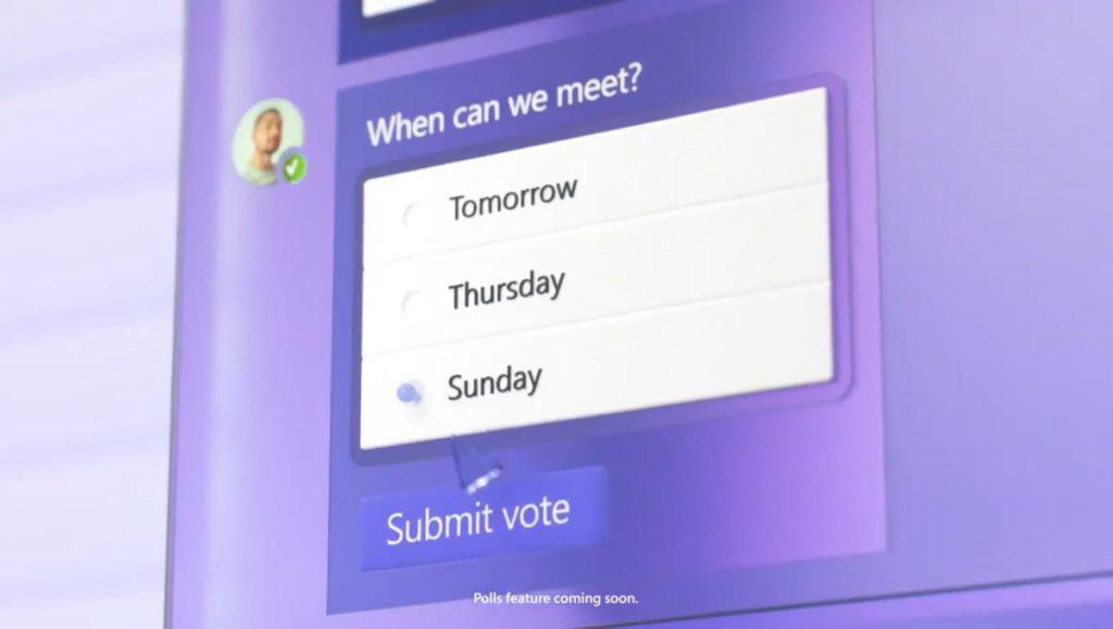 即時投票功能方便徵詢家庭成員意見。