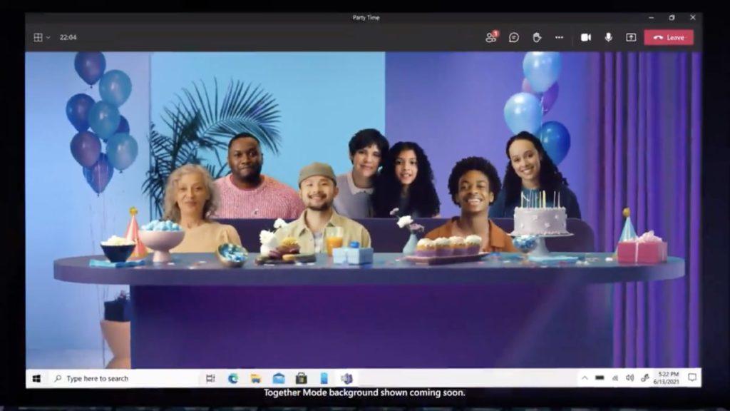 一起模式讓親友顯示在同一個虛擬場景中,增加相聚的感覺。