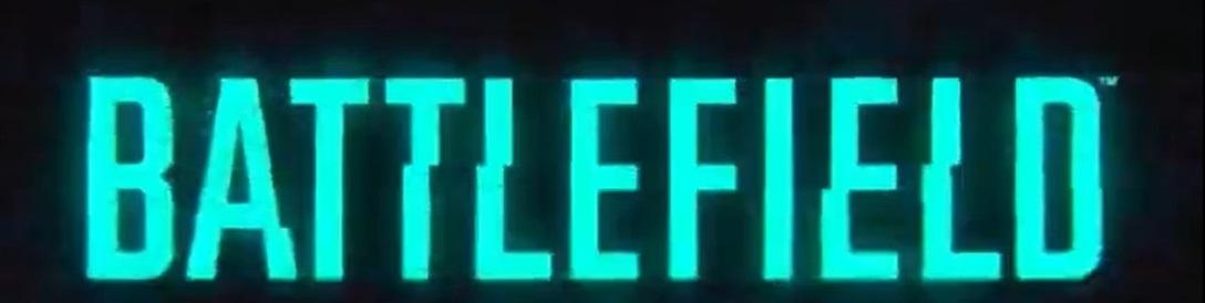 Battlefield Twitter 官方短片所顯示的字形,黑底藍字,帶有輕微干擾效果。