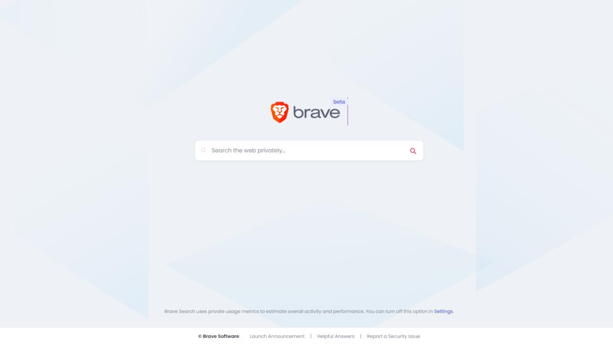 Brave 自家搜尋器已經封測了一段時間,現在開放公測。