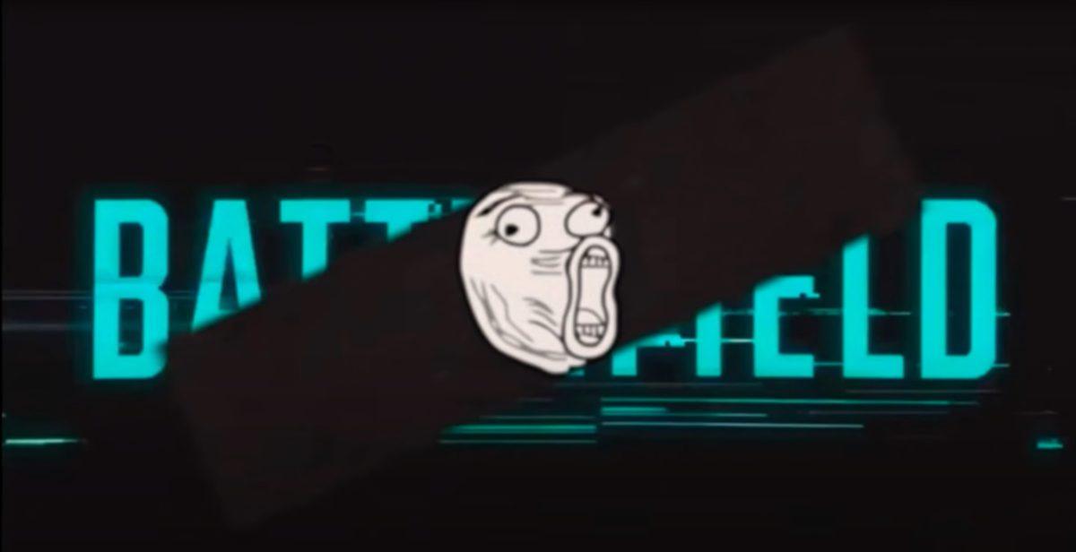 網上疑似 Battlefield 宣傳片尾段與官方的字體非常接近。