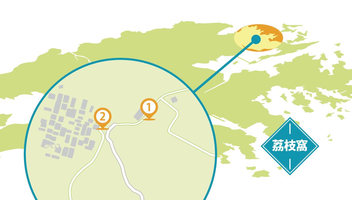 荔枝窩地圖