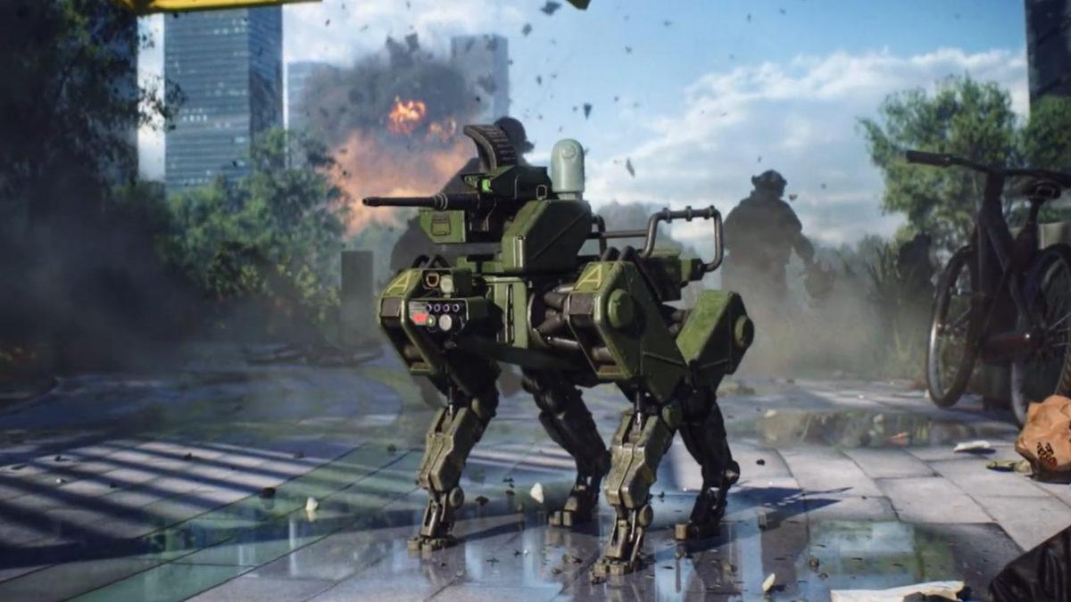 玩家可以召喚戰鬥機械狗,頓時增強未來戰爭感覺。