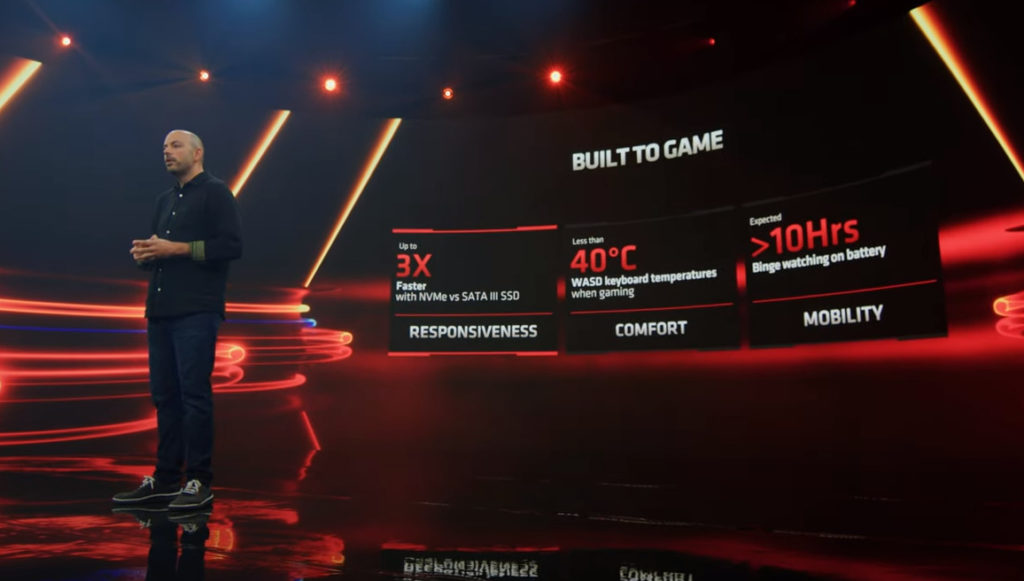 AMD 表示 RX 6000M 筆電最多可提供 10 小時以上的電池使用時間