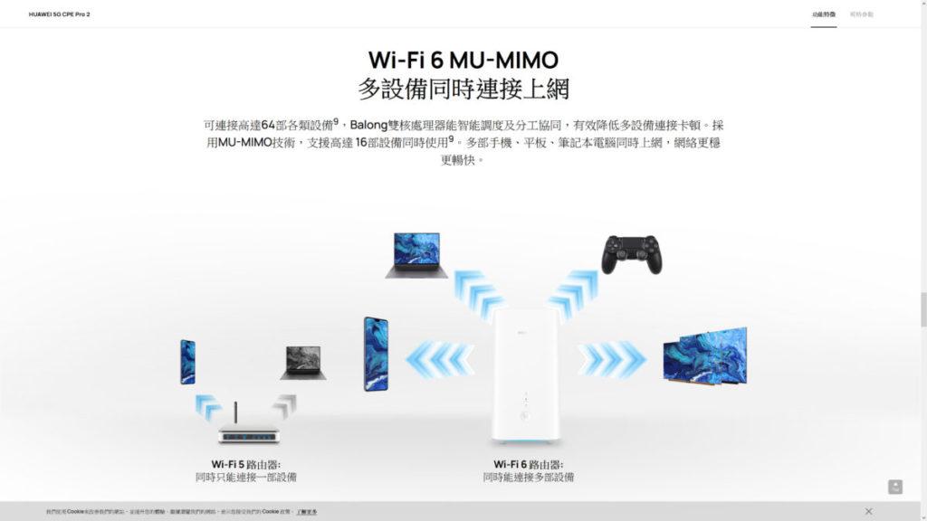 部分家用5G Router標榜可連接超過60部裝置,遠勝手機的流動熱點功能。