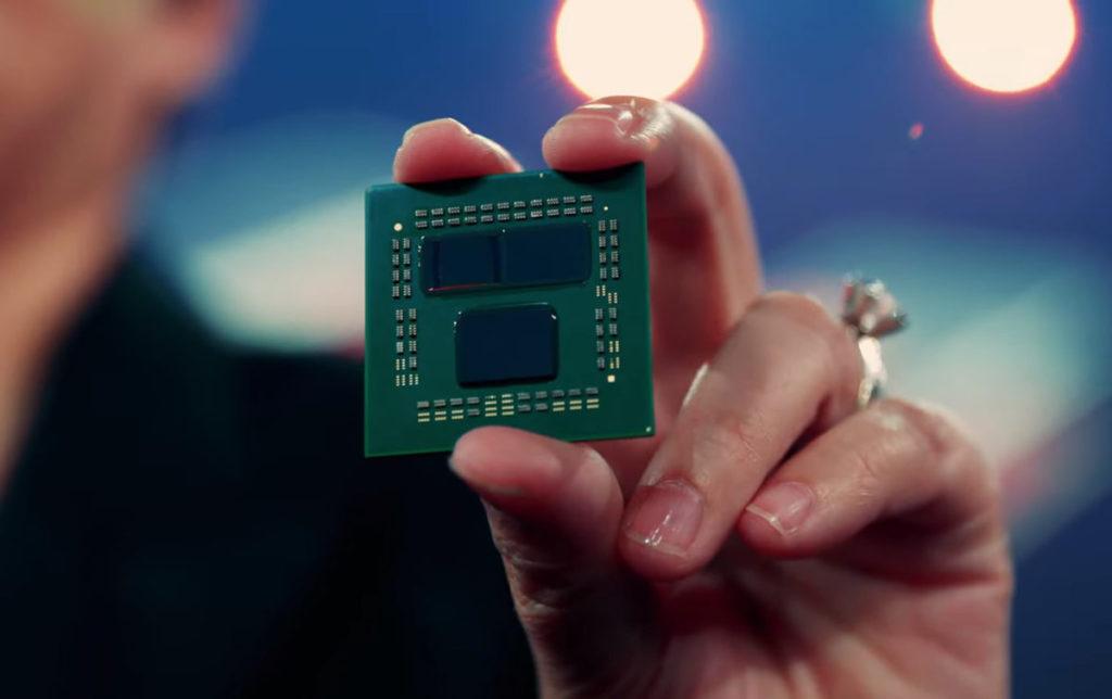 加入 3D V-Cache Technology 後的 Zen3 在外觀上沒有太大的改變,最多可有 2 個 Core + 1 個 I/O 核心。