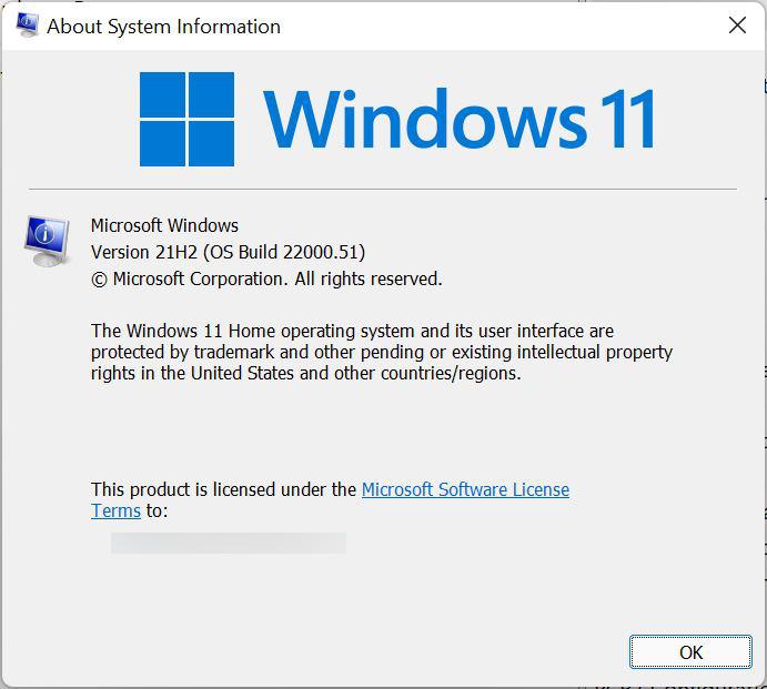 剛推出的 Windows 11 Insider 預覽版版本是 21H2 ,版本編號是 10.0.22000.51 ,可見承繼了不少 Win10 的元素⋯⋯
