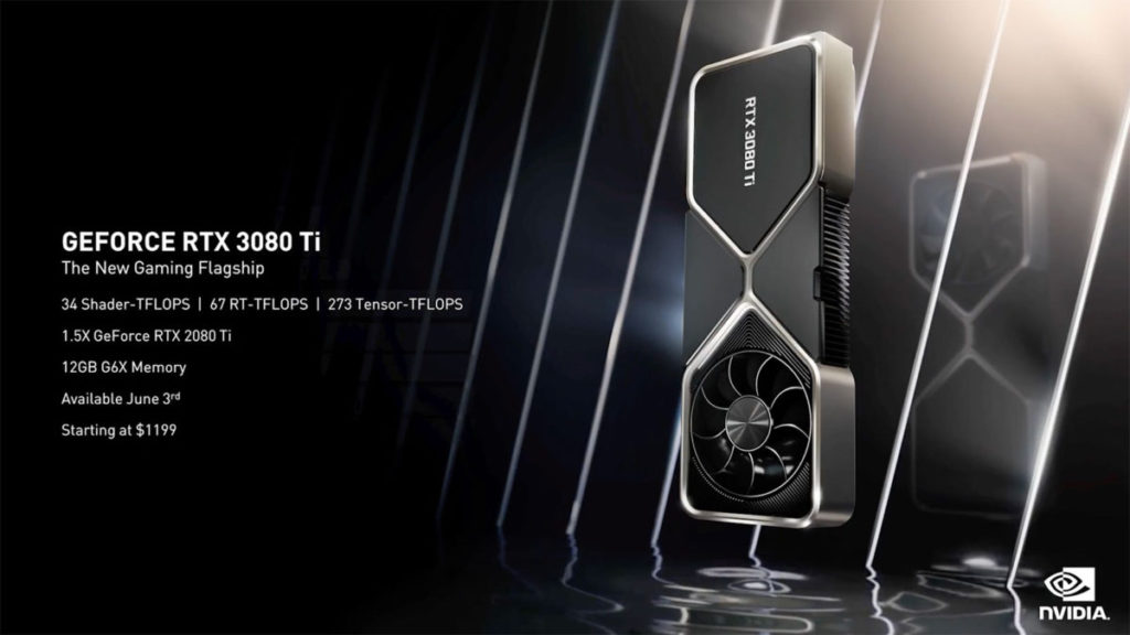官方稱 RTX 3080 Ti 為 34.1 Tflops 、而 RTX 3090 則為 35.6 Tflops,可見兩者的差距很小。