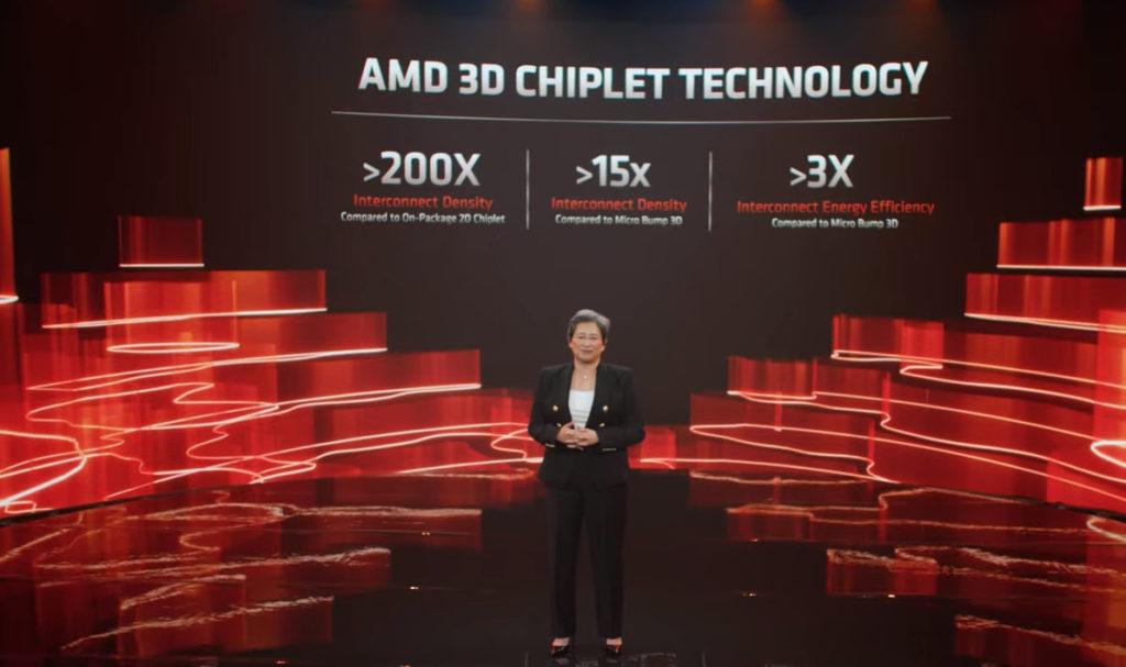 從技術來看, 3D Chiplet 技術可增加最多 3X Energy Efficiency 。