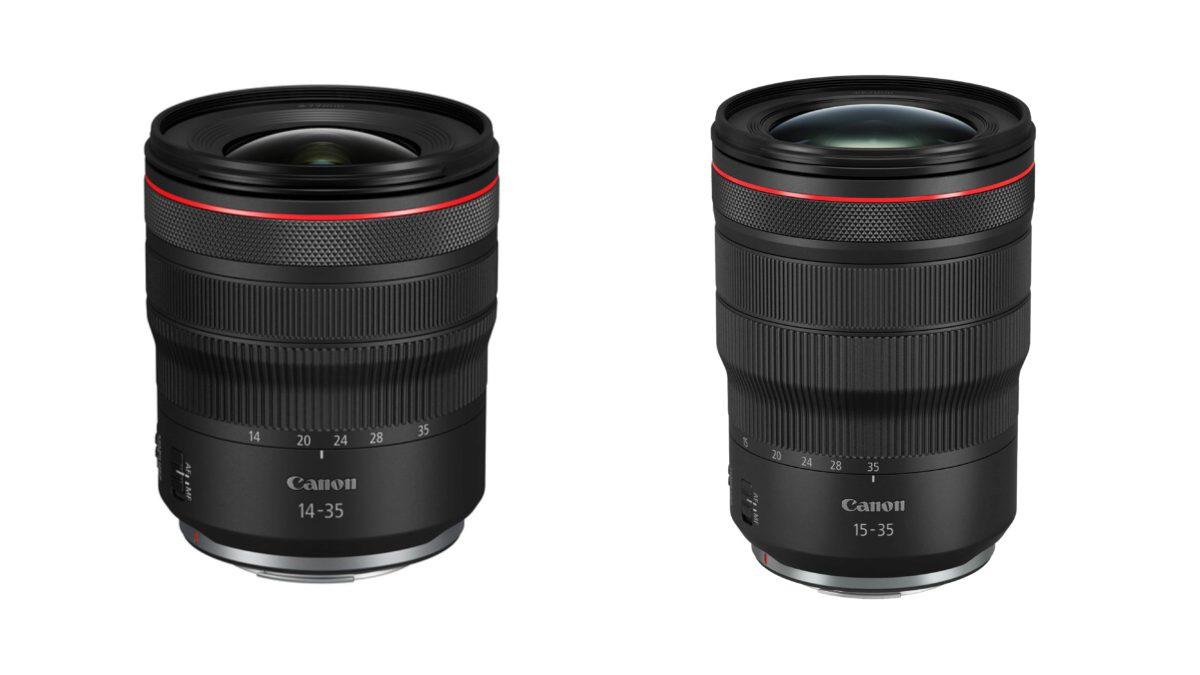 明顯可見 RF 14-35mm f/4L IS USM 更加短小。