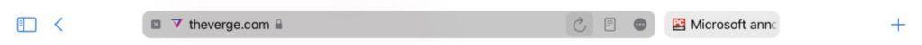 iPadOS 15  Dev. beta 2 在 Safari 的地址列加回「重新載入」和「閱讀器」的按鈕。