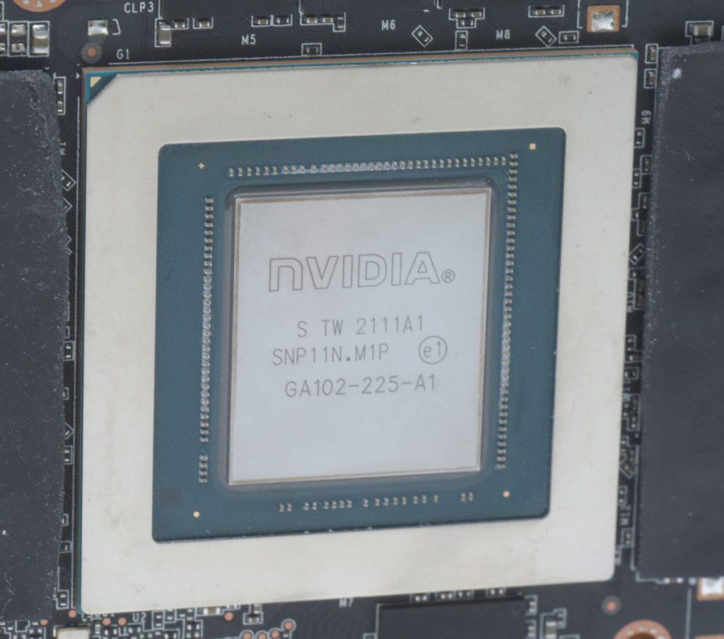 RTX 3080 Ti 採用 GA102-225-A1 核心,有別於 RTX 3080 的 GA102-200 核心。