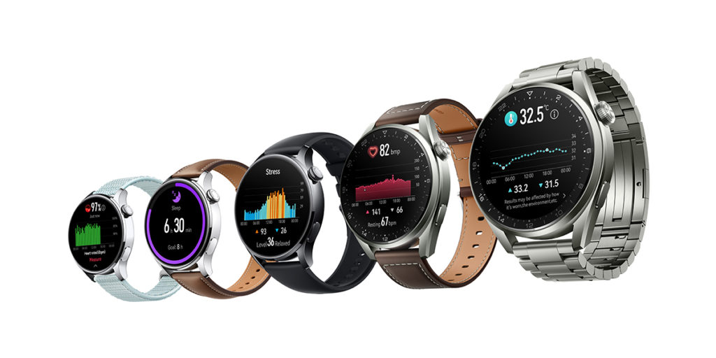 HUAWEI WATCH 3系列採用大曲率 3D 玻璃及精鋼錶身,首度加入支援觸覺反饋 3D 旋轉錶冠,而且支援獨立通訊功能,用戶可在手機上啟用一個號碼雙裝置應用,可使用和手機相同號碼和數據服務接聽和撥打電話,以及聽音樂等。HUAWEI WATCH 3系列更搭載全新高精準度的溫度感應器作體溫偵測,同時支援血糖管理。
