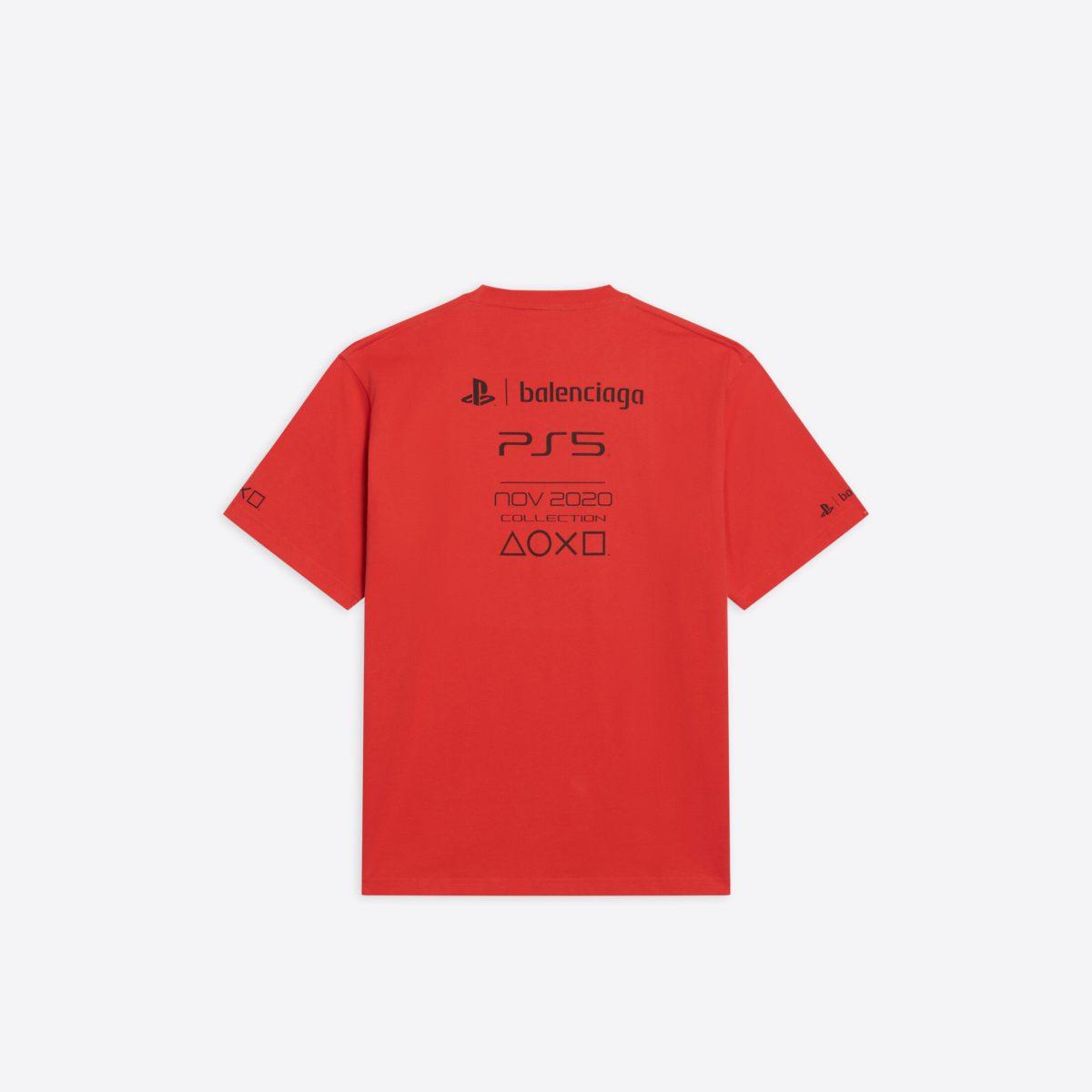 Balenciaga x PS5 T 恤背面