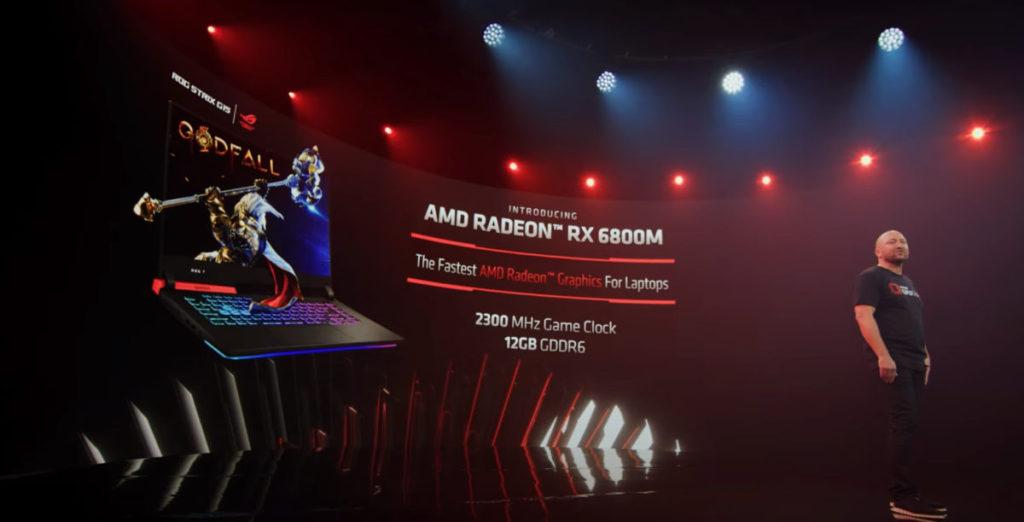 即場公佈 ASUS 會推出 RX 6800M 筆電的好消息