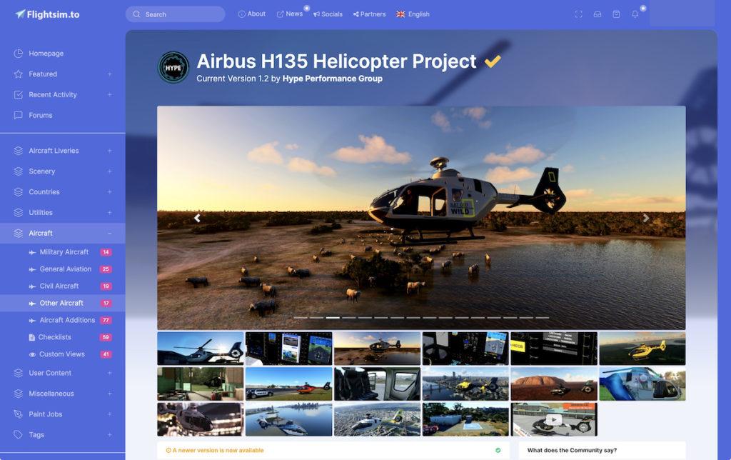 由 Hyper Performance Group 開發的 Airbus H135 直升機觸發直升機飛行熱潮。