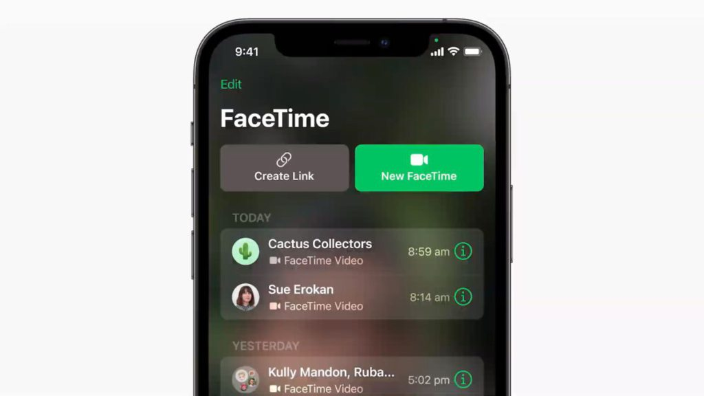 FaceTime 連結可以透過任何分享方法傳送給朋友,亦可讓 Android 和 Windows 的用戶加入 FaceTime 通信。