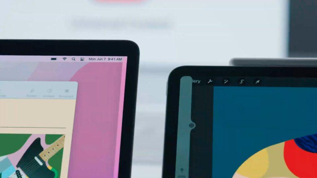 在通用控制下, Mac 機的鼠標可以輕易跨進 iPad 畫面並進行控制。