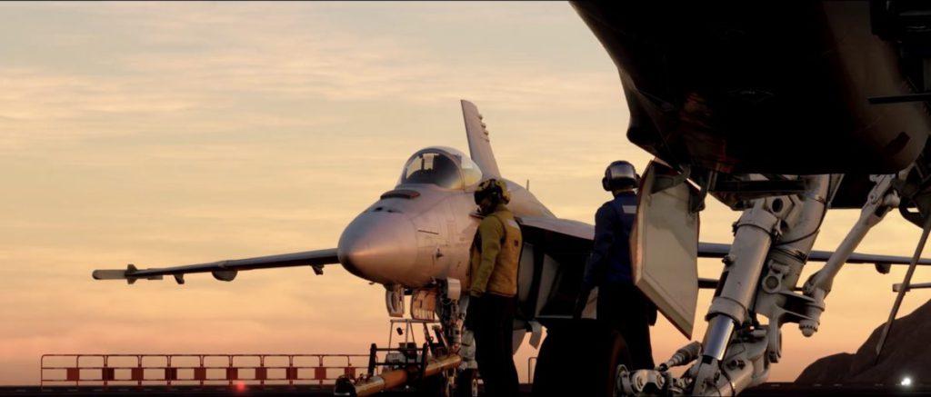 宣傳片中無論戰機或航空母艦都做得相當真實仔細。