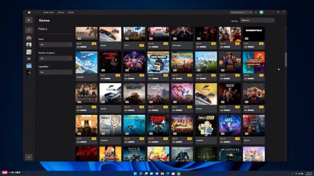 用戶可以在 Xbox 程式裡購買遊戲。