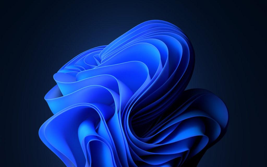 新的藍色捲曲的花作背景。