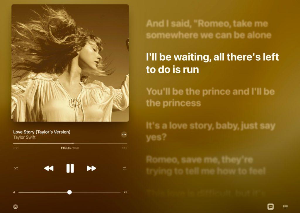 如果按預設聽歌,會優先使用 Dolby Atmos(當使用 iPhone 12 、 iPad Pro 內置喇叭,或連線 AirPods Pro ),其他耳機 (有線或無線)會使用立體聲格式。