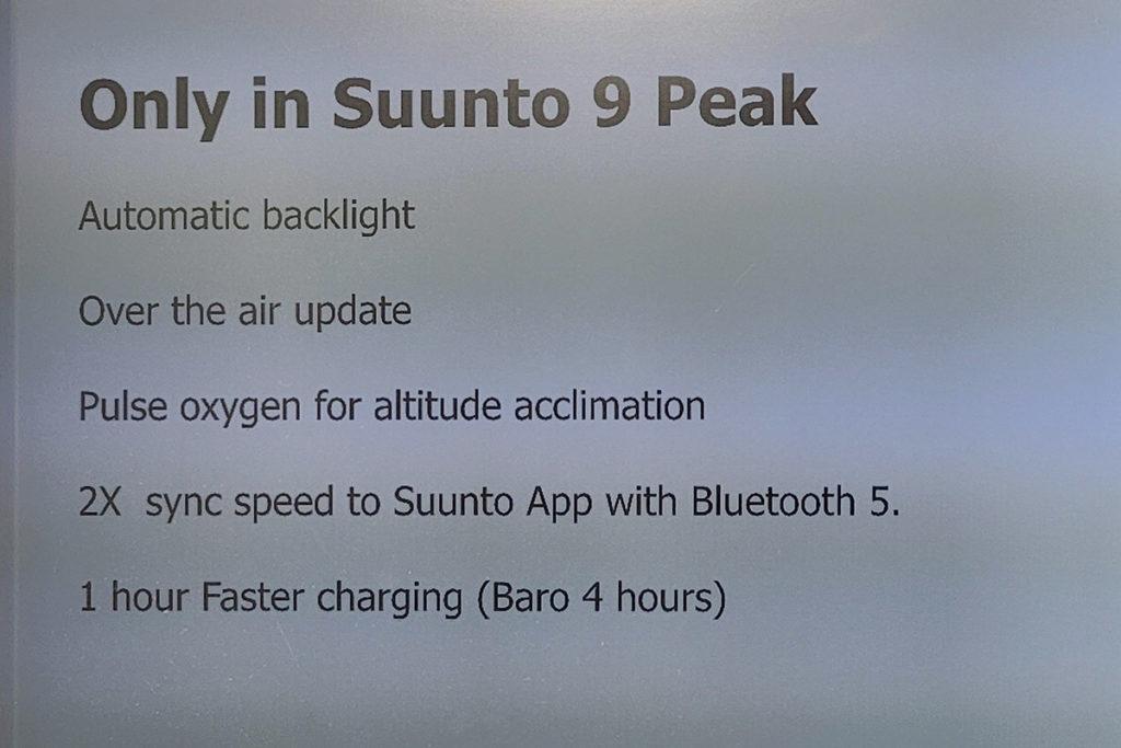 Suunto 9 Peak 有多項獨有功能,如 SpO2 監測,亦使用了 Bluetooth 5 技術,令手錶與手機連接更快,同步資料更流暢。