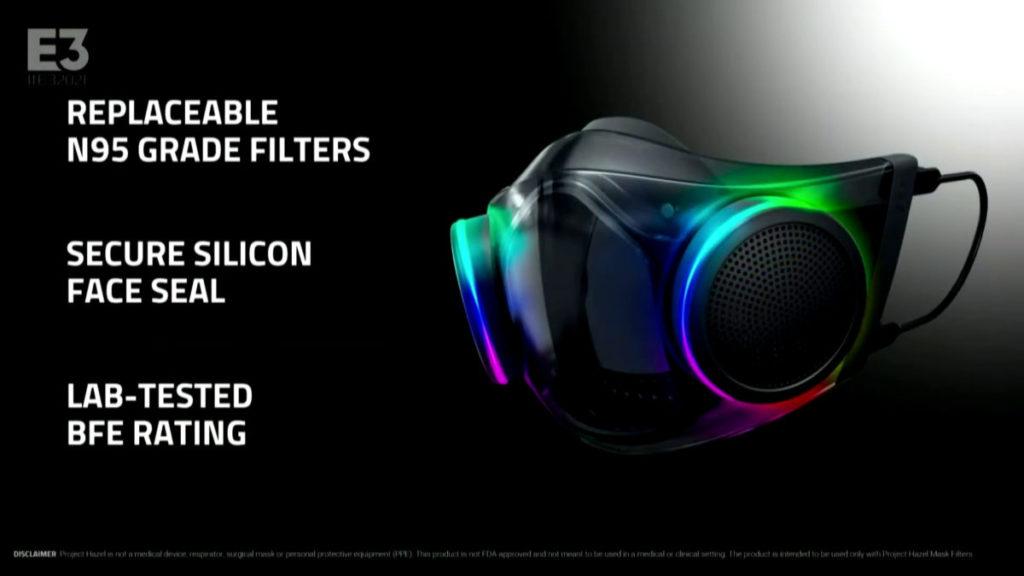 口罩具備可更 N95 級數濾芯,並且通過 BLE 認證。