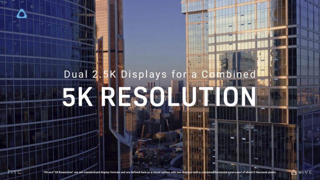 5K 超高解像度和 120° 寬廣視野是兩款 HTC Vive 新裝置的重點,超越同級產品。