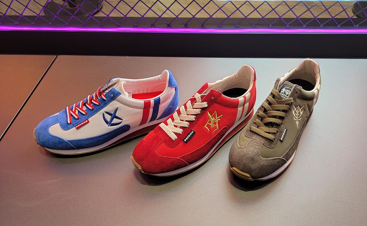 STRICT-G 聯乘 PATRICK 嘅運動鞋,鞋側繡上徽章標誌。