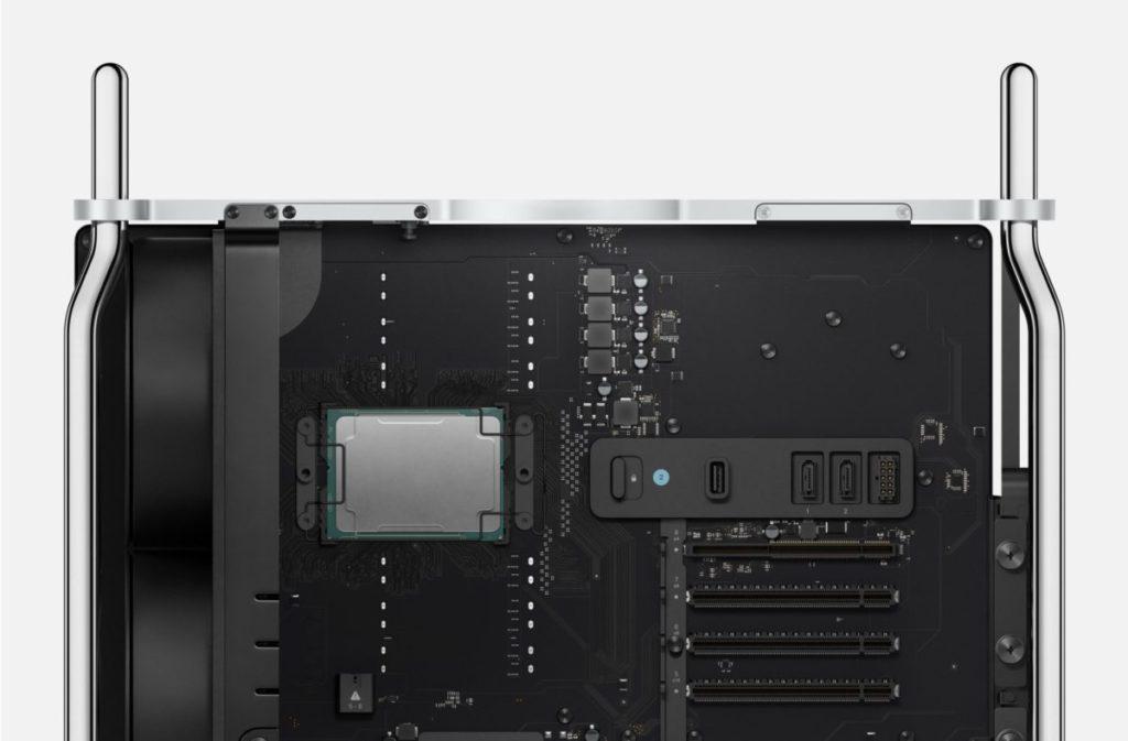現時的 Mac Pro 可配備最高 28 核心 56 線程的 2.5GHz Intel Xeon W CPU ,支援最多 1.5TB DDR4-2933MHz 記憶體。