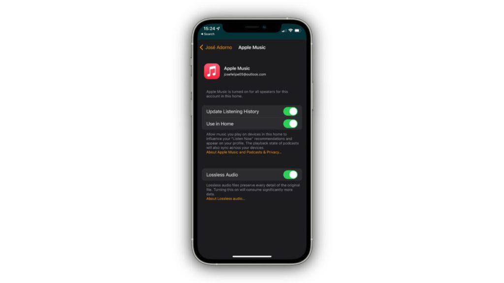 HomePod 的無損音樂功能是在《家居》 App 中設定的。