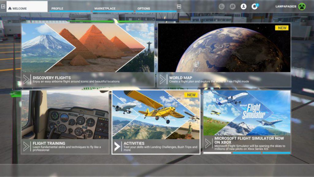 隨著 Xbox 版推出的新主頁介面,強調「發現之旅」。