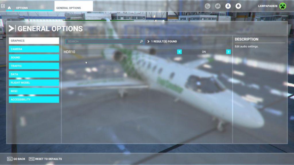 Xbox 版在圖像設定方面只有 HDR10 開關。