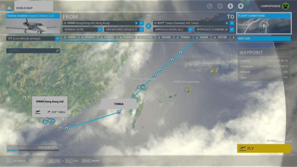 Xbox 版一樣可以建立精密的 IFR 飛行計劃,並儲存在 Xbox 主機上。