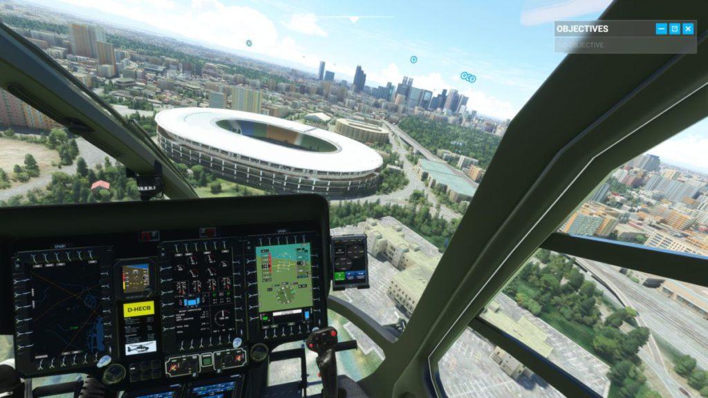 東京奧運主場館和直升機,現時都只能在 PC 版見到。