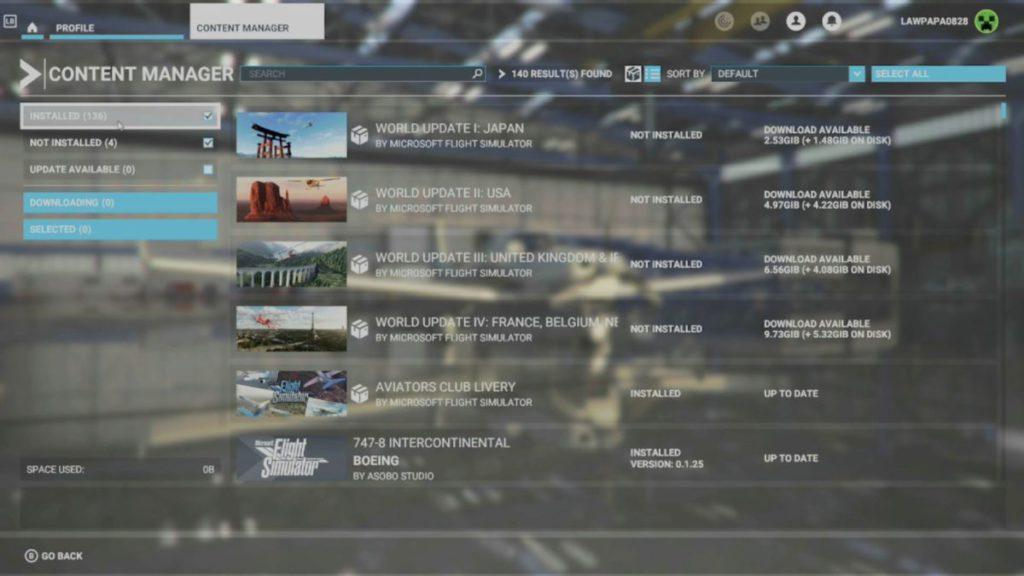 即使完成更新進入遊戲,大家也應該到 Profile > Content Manager 查看一下,會發現很多 Add-On 和 World Update 需要更新。