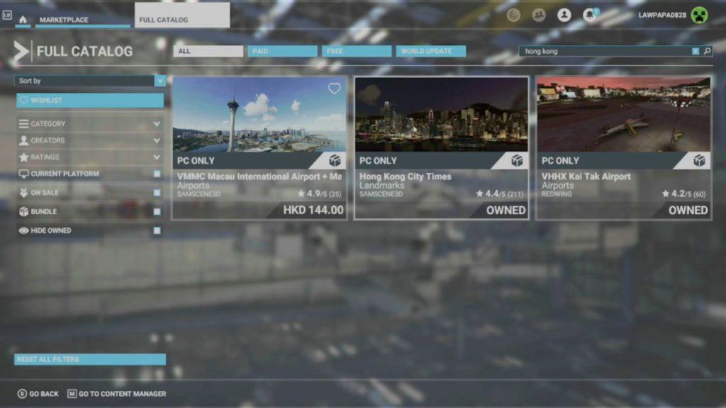 即使在官方商城,所有香港、澳門和日本 Add-On 暫時都只支援 PC 版。