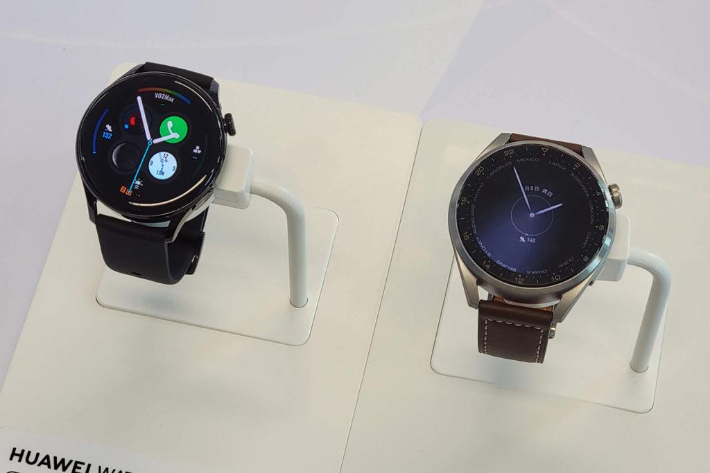 HUAWEI Watch 3 Pro 及 HUAWEI Watch 3 ,兩者均採用大曲率 3D 玻璃及 1.43 吋 AMOLED 屏幕, HUAWEI Watch 3 採用精鋼錶身而 HUAWEI Watch 3 Pro 會採用鈦金屬錶身。 HUAWEI WATCH 3 系列首度加入有觸覺反饋功能的 3D 旋轉錶冠,而且支援 eSIM 提供獨立通訊功能。
