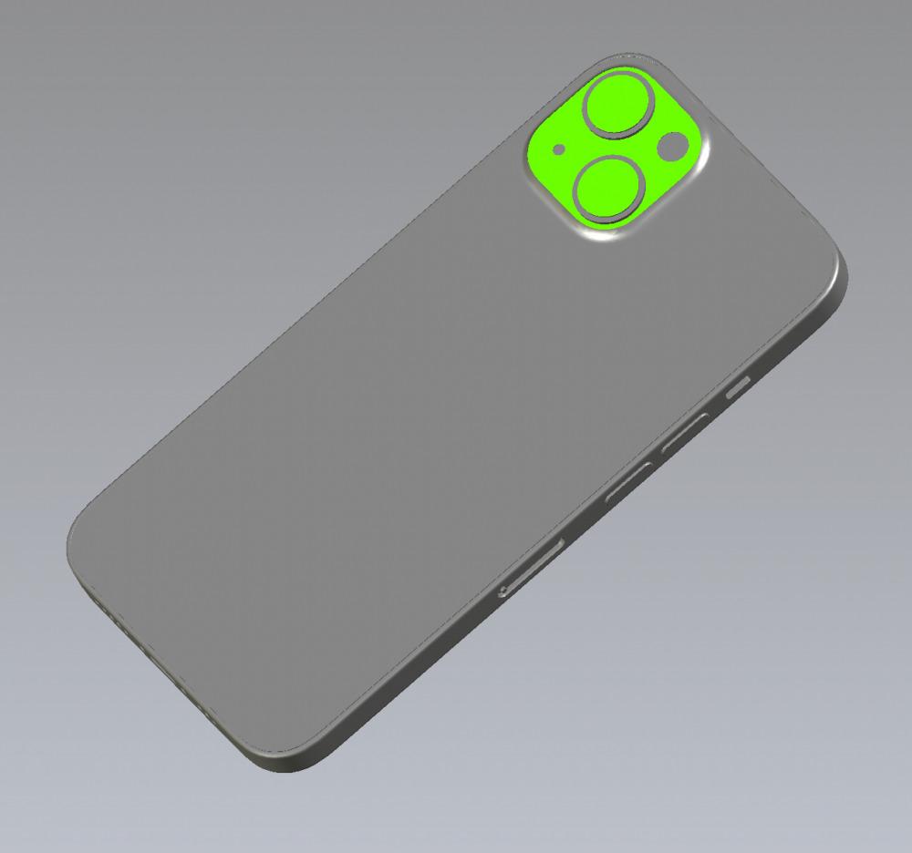上月流出的新 iPhone CAD 檔案。
