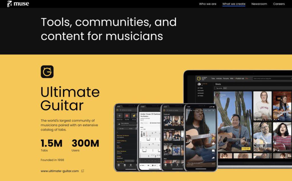 兩個月前收購了《 Audacity 》的 muse 集團旗下有多款為音樂人設計的應用程式。