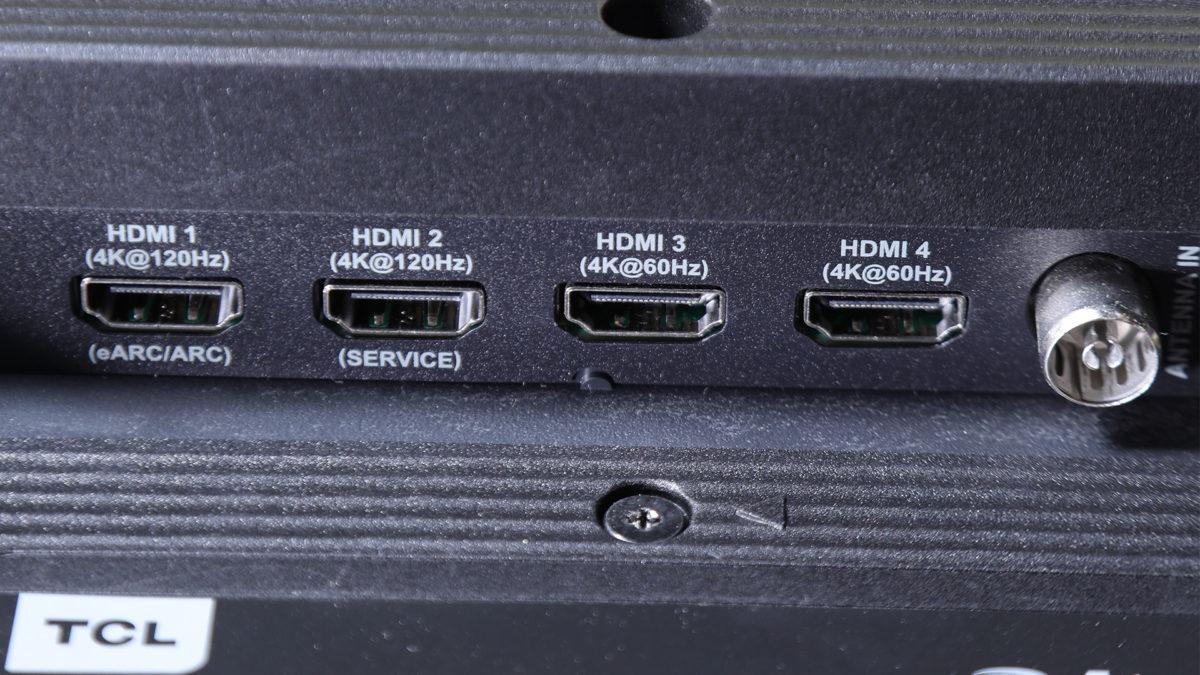 電視總共有 4 個 HDMI 端子,兩個則支援 4K 120Hz 。